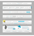 Web site design menu vector image