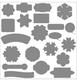 Set of Different Grey Banners vector image vector image