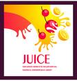 juice fruit liquid drops splash colorful backgroun vector image