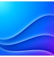 Blue shaded waves abstract background vector image