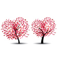 Tree with Abstract Red Leaves vector image vector image