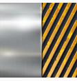 Metal warning background vector image