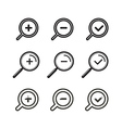 Different zoom icons set vector image