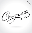 CONGRATS hand lettering vector image vector image