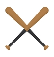 baseball crossed bats wooden design vector image