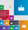 Birthday cake icon sign buttons Modern interface vector image
