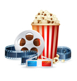 Cinema and movie realistic objects isolated vector image