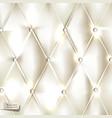 Elegant white upholstery background vector image