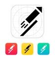 Festive rocket icon on white background vector image
