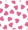 Hearts Seamless Pattern Wrapping Texture vector image