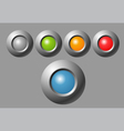 indicator button vector image