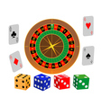 roulette game vector image