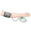Measurement of blood pressure vector image vector image