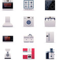 Part one of domestic appliances set vector image
