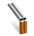 gun out of cigarettes vector image vector image