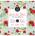 Invitation or Congratulation Card for Wedding vector image
