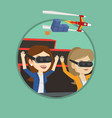 friends in vr headset riding on roller coaster vector image vector image