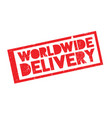 worldwide delivery rubber stamp vector image