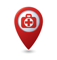 medical icon red pointer vector image vector image