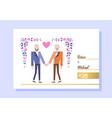 gay couple getting married vector image