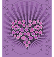 Gothic Card With Ivy Heart vector image vector image