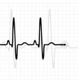Pulse black vector image