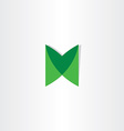 green letter m logotype design vector image