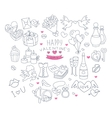 Valentines Day Handdrawn Symbols Collection vector image