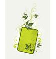 light green floral background vector image