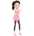 Simple Party Dress vector image vector image