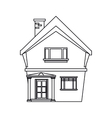 american house domestic chimney outline vector image