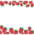 background of fresh strawberries in flat style vector image
