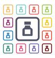drugs flat icons set vector image