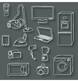 electronics icons set vector image