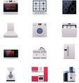 Part one of domestic appliances set vector image