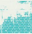 plastered brick wall vector image