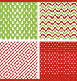 set of seamless abstract christmas patterns vector image
