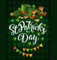 st patricks day holiday poster design vector image