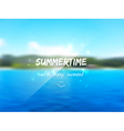 Summertime background vector image