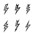 lightning silhouettes on white background vector image vector image