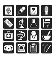 Silhouette Healthcare and Medicine icons vector image