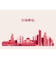 Istanbul Turkey Skyline Flat design Trendy vector image