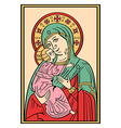 icon of the mother of god vector image