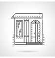 Storefronts flat line icon Candy store vector image