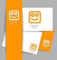 happy emotion template vector image