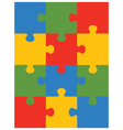 colorful puzzle 12 vector image