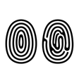 Fingerprint Icons Set on White Background vector image