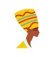 Head of Nefertiti icon flat style vector image