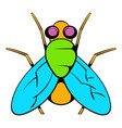 insect fly icon icon cartoon vector image
