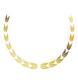 laurel wreath gold victory decoration leaves vector image